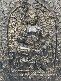 Rare Late Qing 19th Century Chinese Religious Temple God Carved Plaque Sculpture