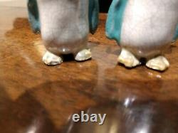 Rare Pair of Late 19th Century Chinese Export Figurines of Penguins