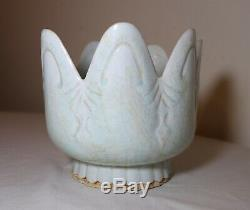 Rare antique Chinese late Ming Dynasty green celadon porcelain pottery vase bowl