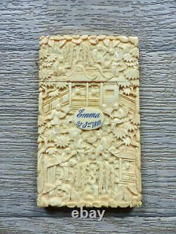 SUPERB ANTIQUE LATE 19th CENTURY CHINESE CANTONESE EXPORT CARD CASE