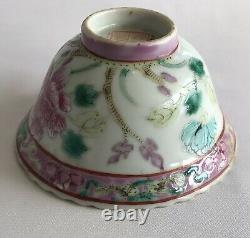 Straits Chinese porcelain tea bowl colored phoenix motif late 19th century