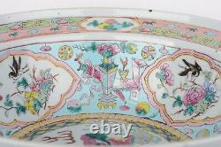 Straits Chinese porcelain water basin Late Qing