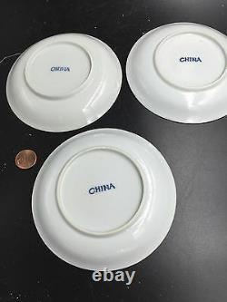 Three Chinese Export Porcelain Tea Cup 1875 Late Qing Dynasty NK07