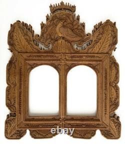 Vintage Late 19th Century Carved Chinese Boxwood Frame