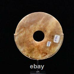 A Chinese Mottled Nephrite Jade Bi Disc, Late Neolithic Period, Vers 3000 2000