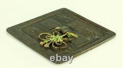 Ancienne Dynastie Tang Tardive (705-907 Ad) Chinese Cast Bronze Square-form Miroir