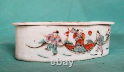 Antique Chinese Leaf Form Cricket Cage Cricket Box Late Qing Ou Early Republic