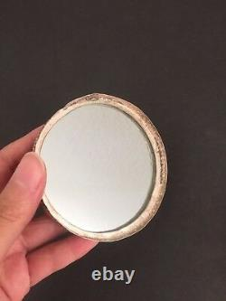 Antique Chinese Silver Repousse Peach Powder Compact Box Late Qing Minguo