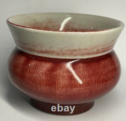 Antique Late Qing Republic Chinese Red Flambe Oxblood Sang De Boeuf Encens