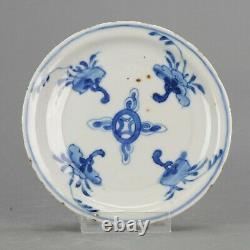 Antique Porcelaine Chinoise Fin Ming C Chinois Goût Tea Ceremony Plate