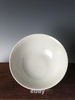 Porcelaine Chinoise Monochrome Rose Bowl Late Qing To Republic With Mark 6.5